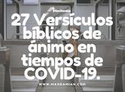 Versículos bíblicos ánimo tiempos COVID-19