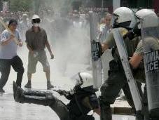 Enfrentamientos Grecia