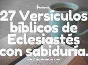 Versículos bíblicos Eclesiastés sabiduría