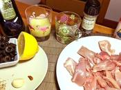 Pollo guisado aceitunas (spezzatino pollo olive)