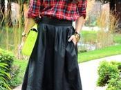Falda Larga Cuadros Outfit