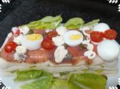 Pastel salado salmón atún huevos ecológicos casa garcea