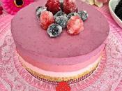 Tarta Mousse Tricolor Frutos Rojos