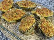 Alcachofas horno jamón