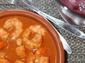 Gambas ajillo salsa soja