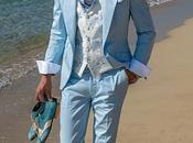 Traje novio azul celeste algodón corte italiano moderno slimfit