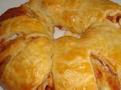 Corona hojaldre jamón queso