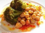 Ensalada brócoli garbanzos piquillos