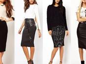 Falda Negra Corta Ajustada Outfit Cuero Invierno