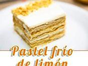 Pastel frío limón carlota