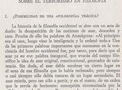 L'inici filosofia occidental, segons clément rosset (1971)