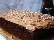 Pastel húmedo cobertura chocolate