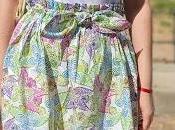 Falda estampada pompones
