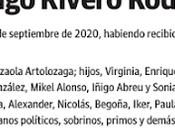 Último adiós Santiago Rivero