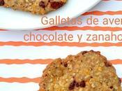 Galletas avena, chocolate zanahoria