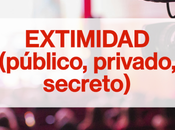 EXTIMIDAD (público, privado, secreto), ciclo conferencias torno exteriorización intimidad