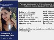 Buscan Luisa Paola años, desaparecida Viveros