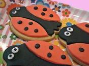 Primeras galletas decoradas... ¡¡Mariquitas!!