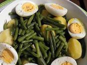 Hervido patatas judías verdes