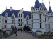 Castillos Loria Navidad: Azay-Le-Rideau palacio flotando agua.