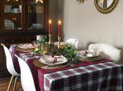 Nuestra mesa navideña cuadros escoceses