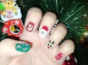 Diseño uñas Papa Noel para Nochebuena Navidad