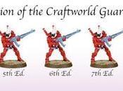 evolución Guardianes Eldar desde hasta ahora