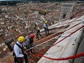 Cientos huellas animales encontradas techo catedral medieval Florencia