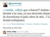 Insultos Vicepresidente Camila Vallejo Twitter.