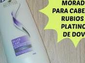 Review Champú morado para cabellos rubios, platinos canas Dove