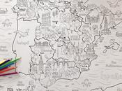 Mapa ilustrado España para colorear