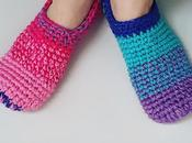 Rainbow crochet sleepers