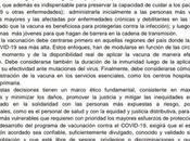 Academia Nacional Medicina exigió acceso vacuna libre privilegios