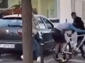 Agresión brutal ciclista Sabadell