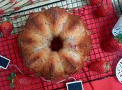 Bundt cake sirope arce nueces fresas. Maple, walnuts strawberries bundt cake.