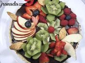 Tarta frutas chocolate gluten lactosa