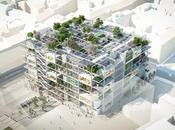 IKEA construye Viena tienda automóviles envuelta vegetación