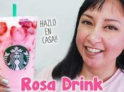 bebida rosa Starbucks hecha casa