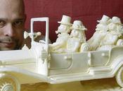 Esculturas hechas mantequilla