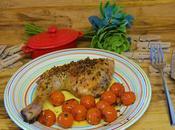 Pollo asado tomates cherrys
