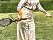 Reina Doña Victoria jugando tennis finca duques Santo Mauro, Fraguas
