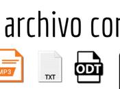 Cómo obtener extensión archivo