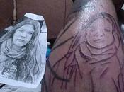 Hombre tatuo Camila Vallejo Brazo