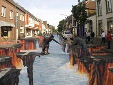 Divertidos dibujos tridimensionales suelo