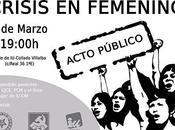 "Acto ""Crisis femenino"""