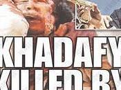 tiro gracia mediático Gadafi: portadas medios corporativos fotos]