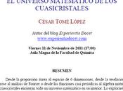 Conferencia Amazing: universo matemático cuasicristales