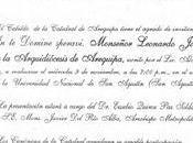 BIOGRAFÍA MONSEÑOR BALLÓN. MIÉRCOLES noviembre, p.m., auditorio Mariano Melgar, Agustín 106. AREQUIPA