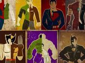 Alucinantes ilustraciones superhéroes famosos cine álter