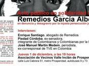 Defensores derechos humanos perseguidos España montajes judiciales Piedad Córdoba acompañó Madrid Remedios García Leyla Ordóñez, víctimas guerra jurídica.